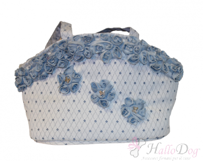 Borsa trasportino DENIM FLOWER