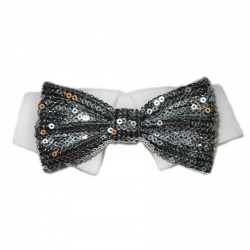 Colletto con papillon  PAILLETTES  (nero)