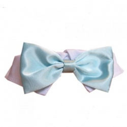 Colletto con papillon SATIN (acqua)
