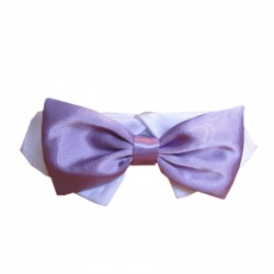 Colletto con papillon  SATIN (lavanda)