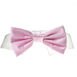 Colletto con papillon  SATIN (rosa)