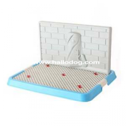 Lettiera DOG TOILETTE (celeste) con colonna