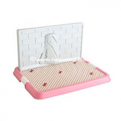 Lettiera DOG TOILETTE (rosa) con colonna
