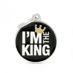 "Medaglietta ""I'M THE KING"""