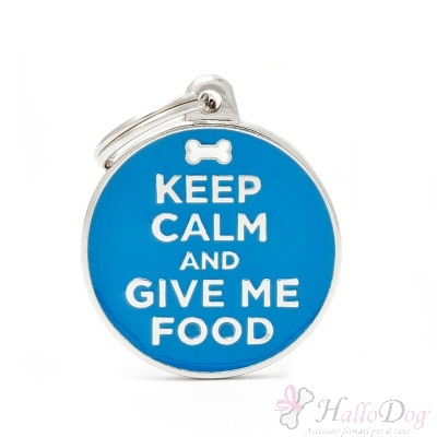 "Medaglietta ""KEEP CALM AND GIVE ME FOOD"""