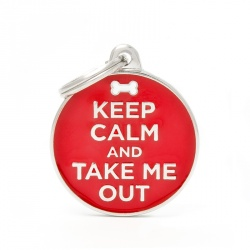 "Medaglietta ""KEEP CALM AND TAKE ME OUT"""