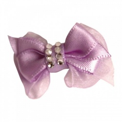 Mollettina CRYSTAL HAIR BOW (lilla)