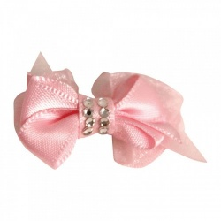 Mollettina CRYSTAL HAIR BOW (rosa)