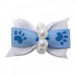 Mollettina PAW HAIR BOW (azzurro)