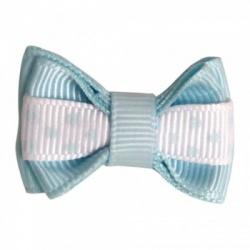 Mollettina POLKA HAIR BOW (celeste)