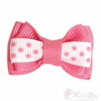 Mollettina POLKA HAIR BOW (fucsia)