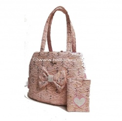 (NEW 2019) Borsa trasportino PAIETTE LACE FAIR
