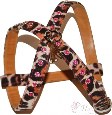 Pettorina: Just Dog (Swarovski colore rosa)