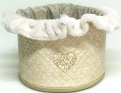 Portagiochi TOY BOX HEARTS (beige)