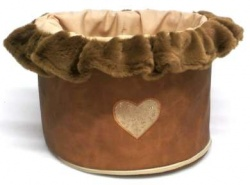 Portagiochi TOY BOX HEARTS (camel)