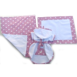 Set bagno ANGELS (white & Pink)