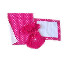 Set bagno ANGELS (white & fuchsia)